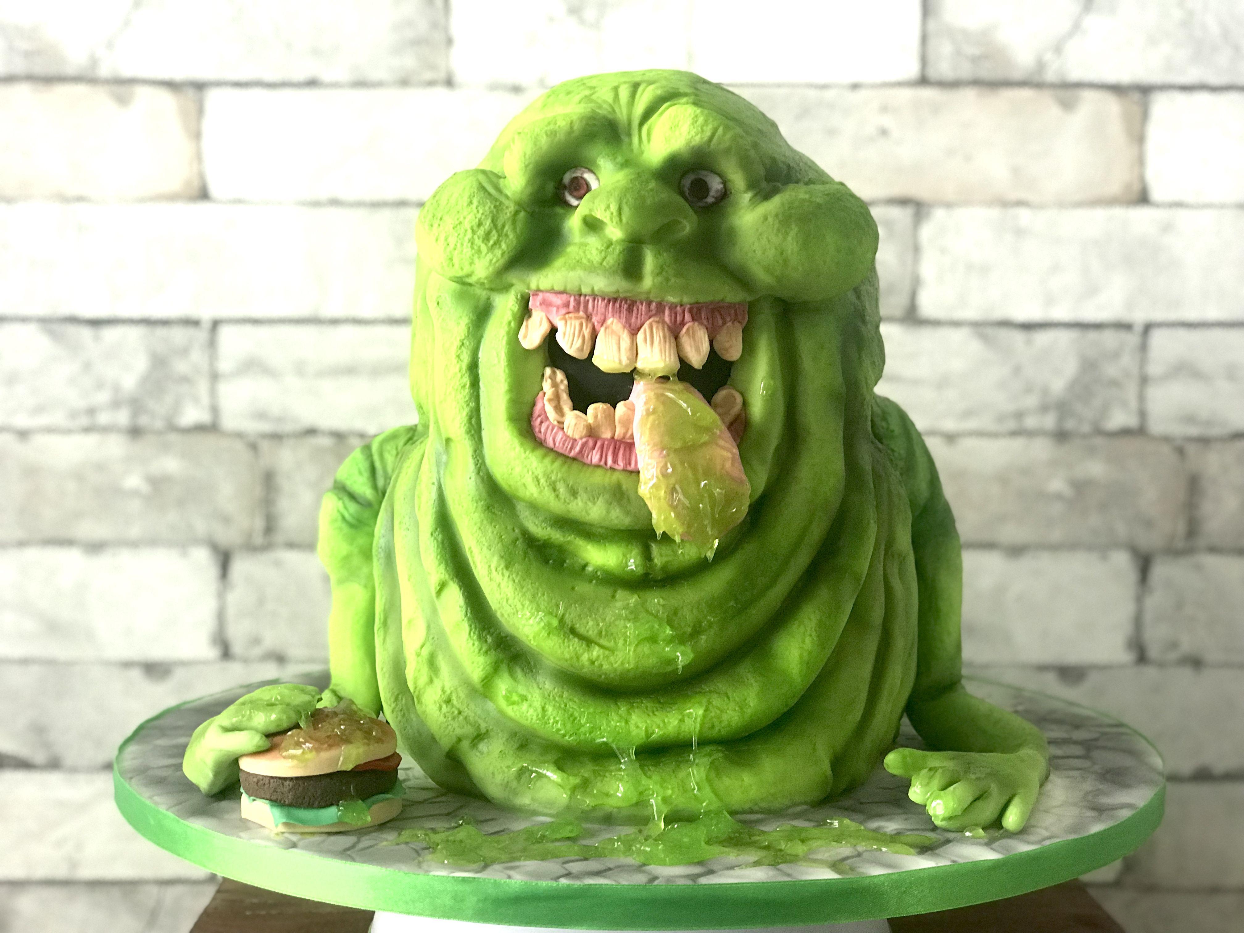 ghostbusters slimer taart