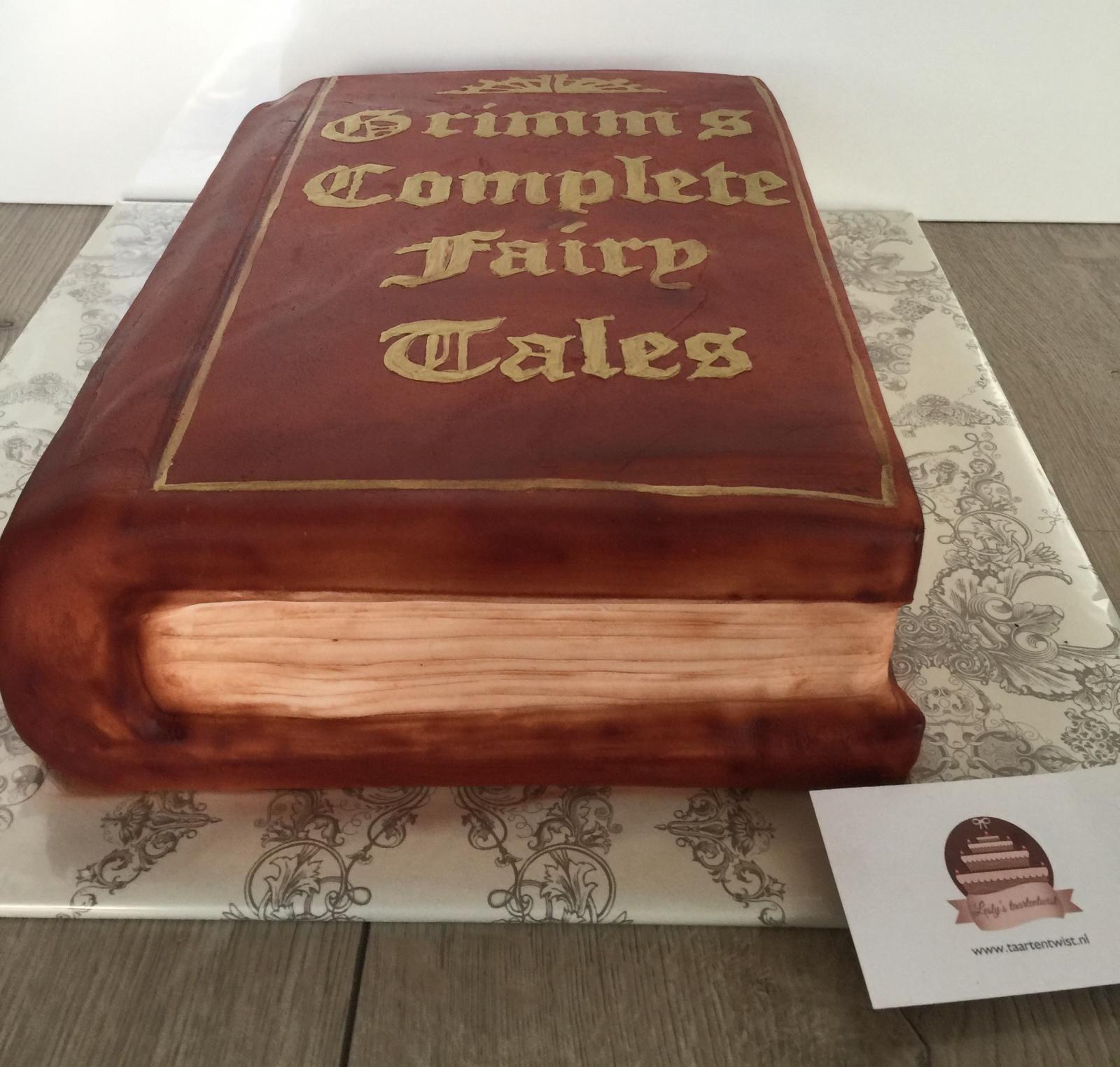 grimm book cake