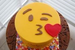 emoji kus taart
