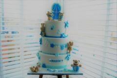 baby shower boy bear cake