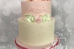 babyshower girl taart