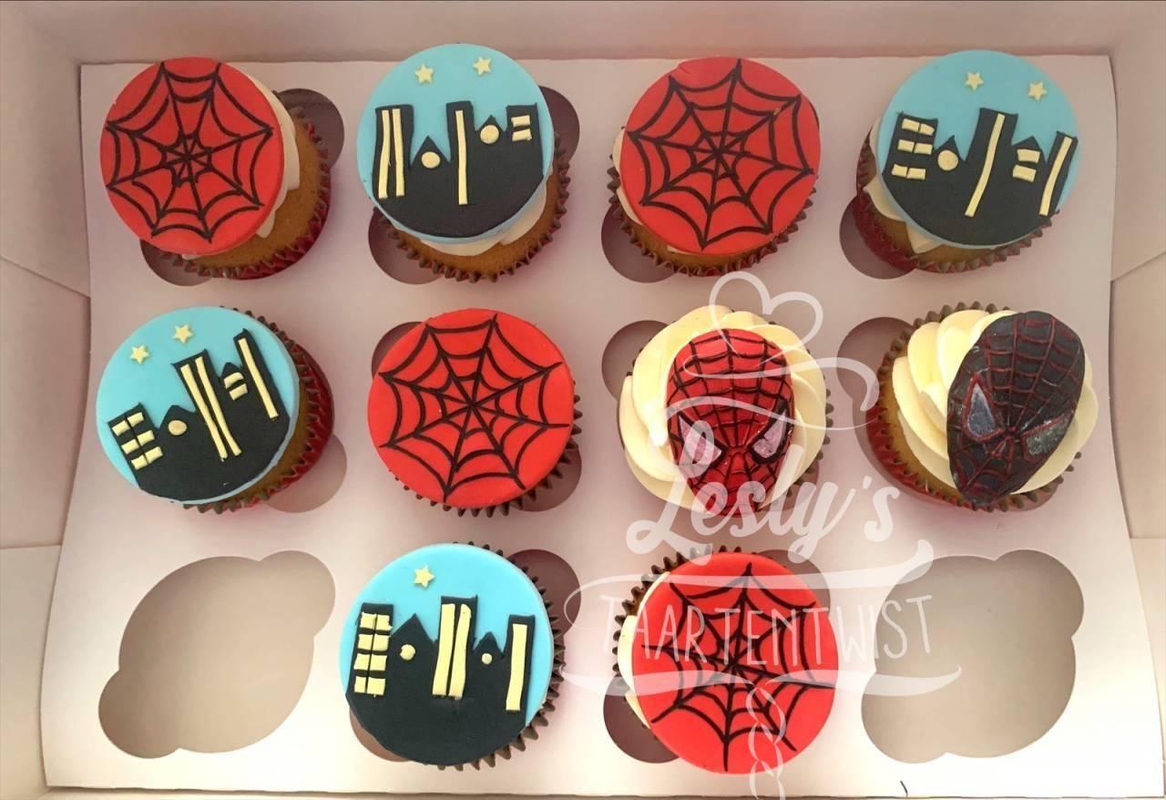spiderman-cupcakes