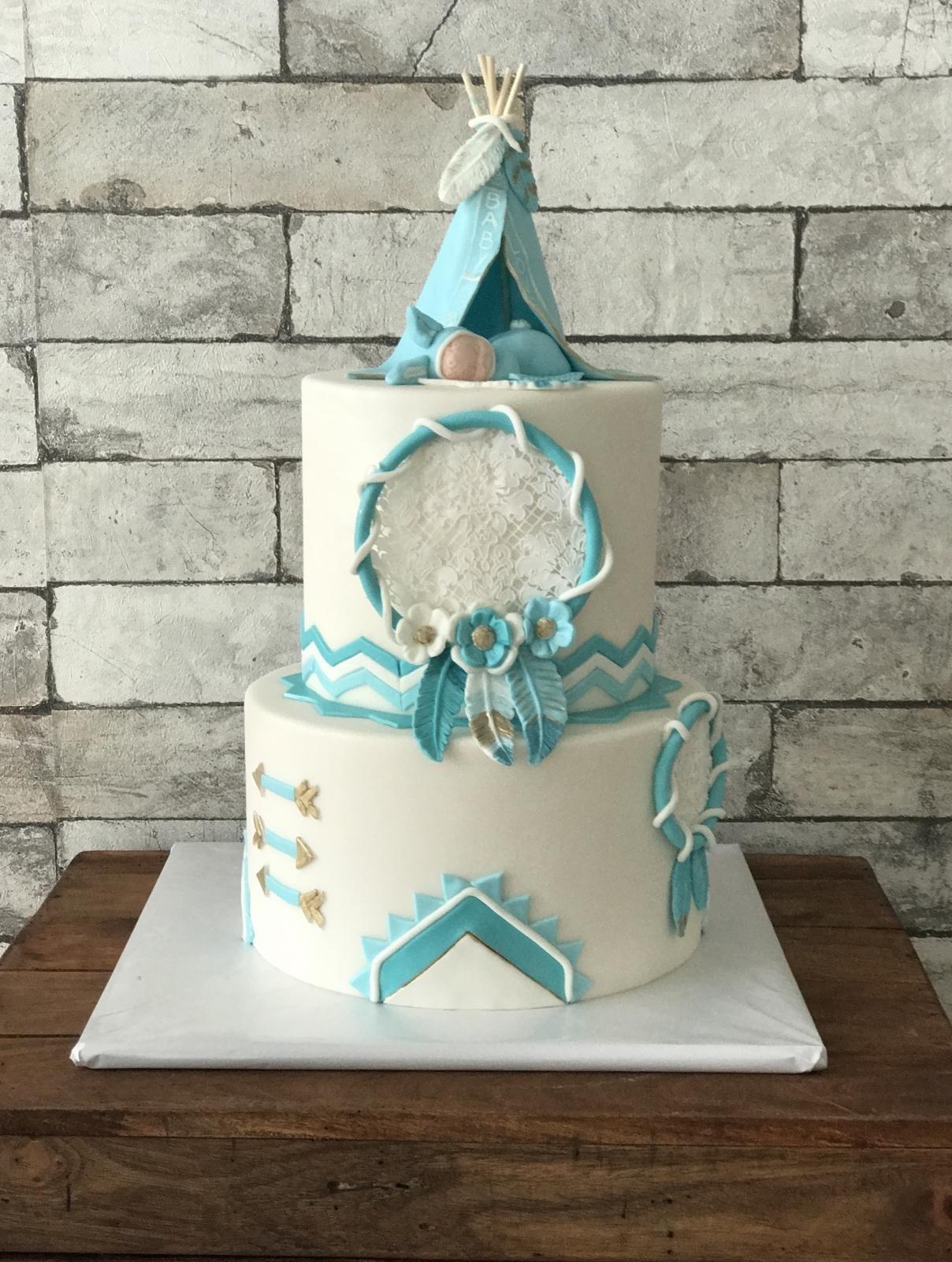 boho baby cake