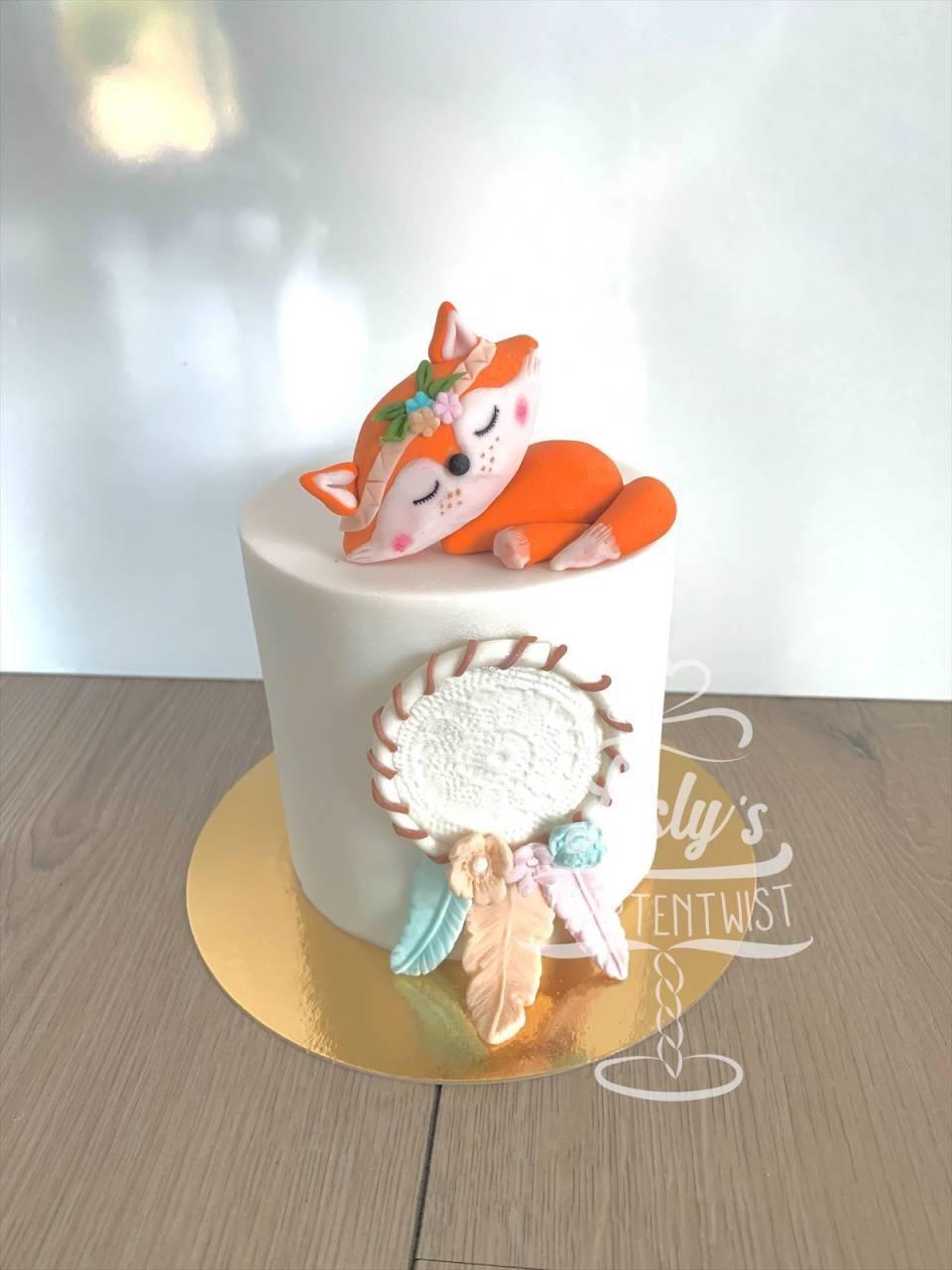 fox-baby-reveal-cake