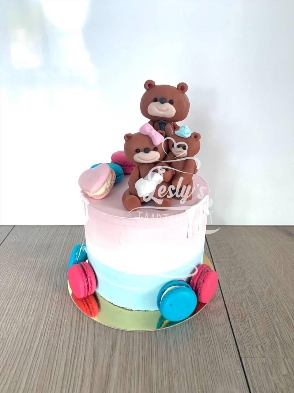 gender-reveal-cake-macaron