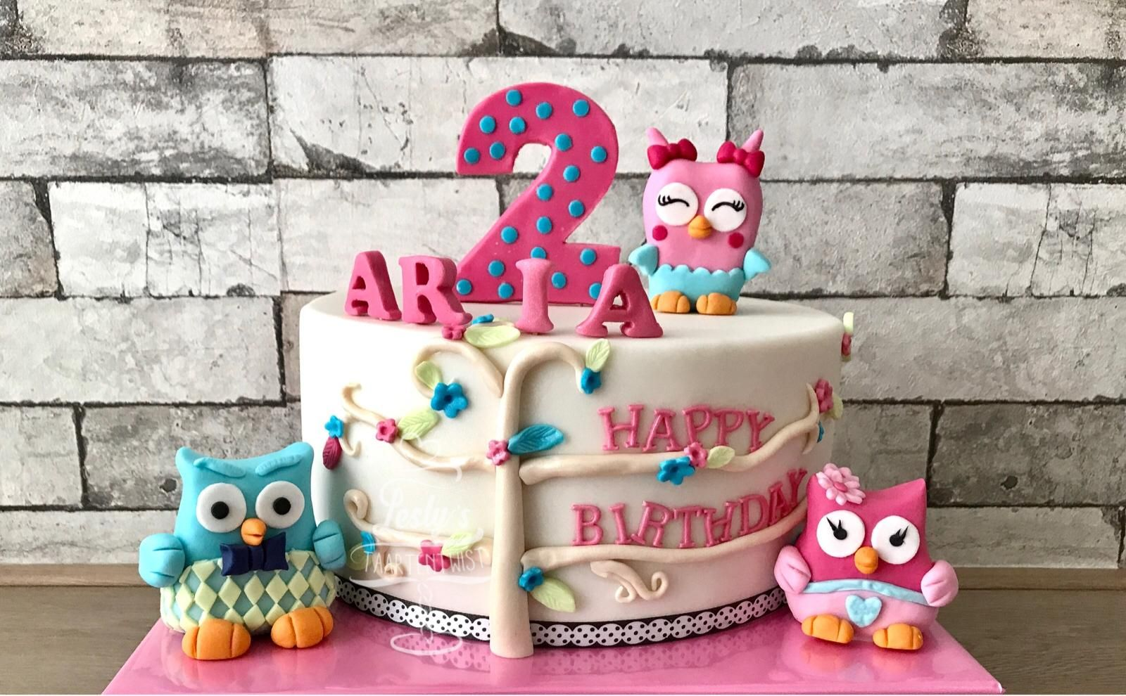 owl baby cake