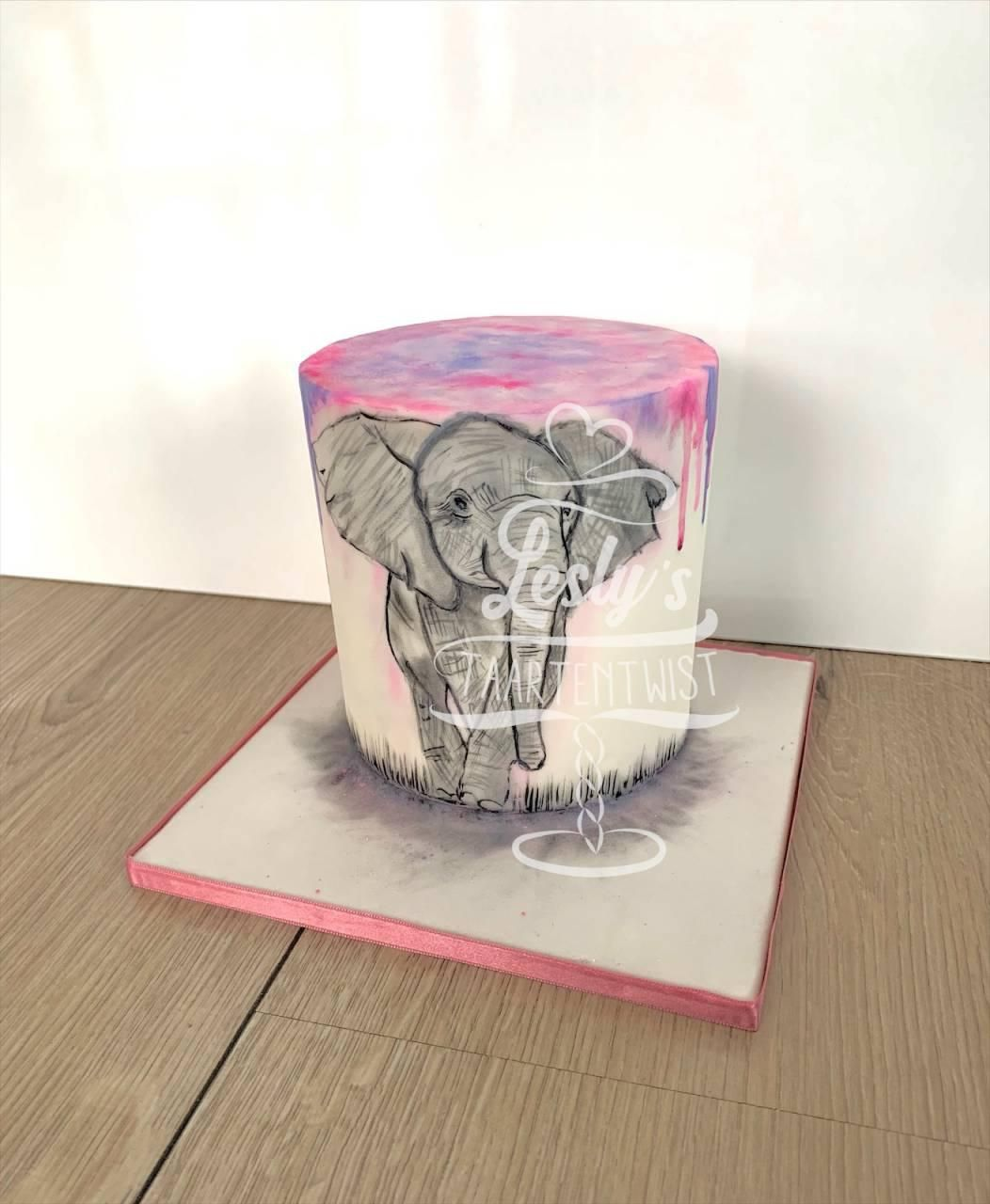 elephant-painted-cake