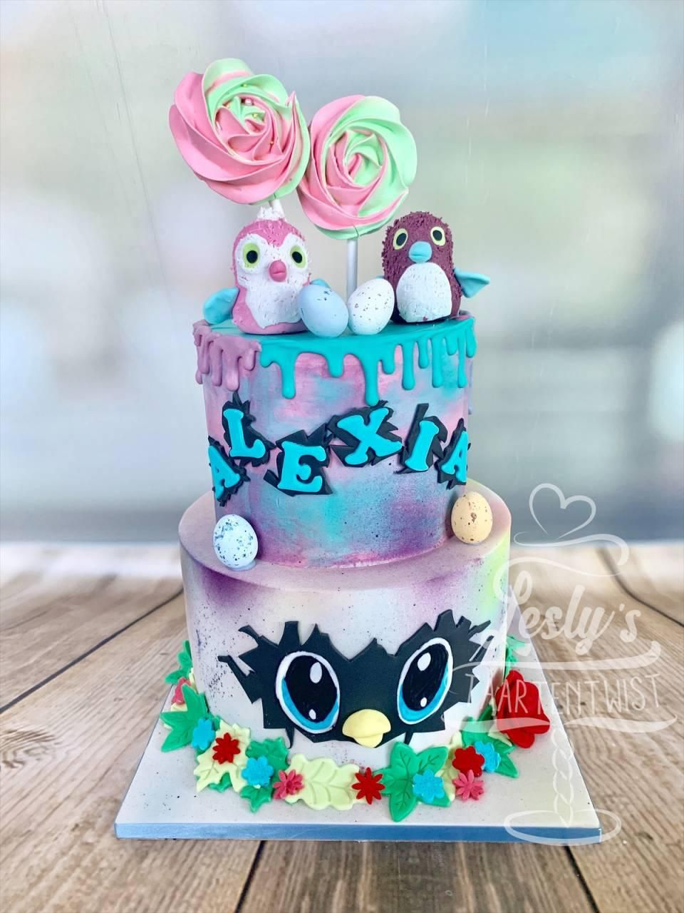 hatchimels cake hatchimals taart