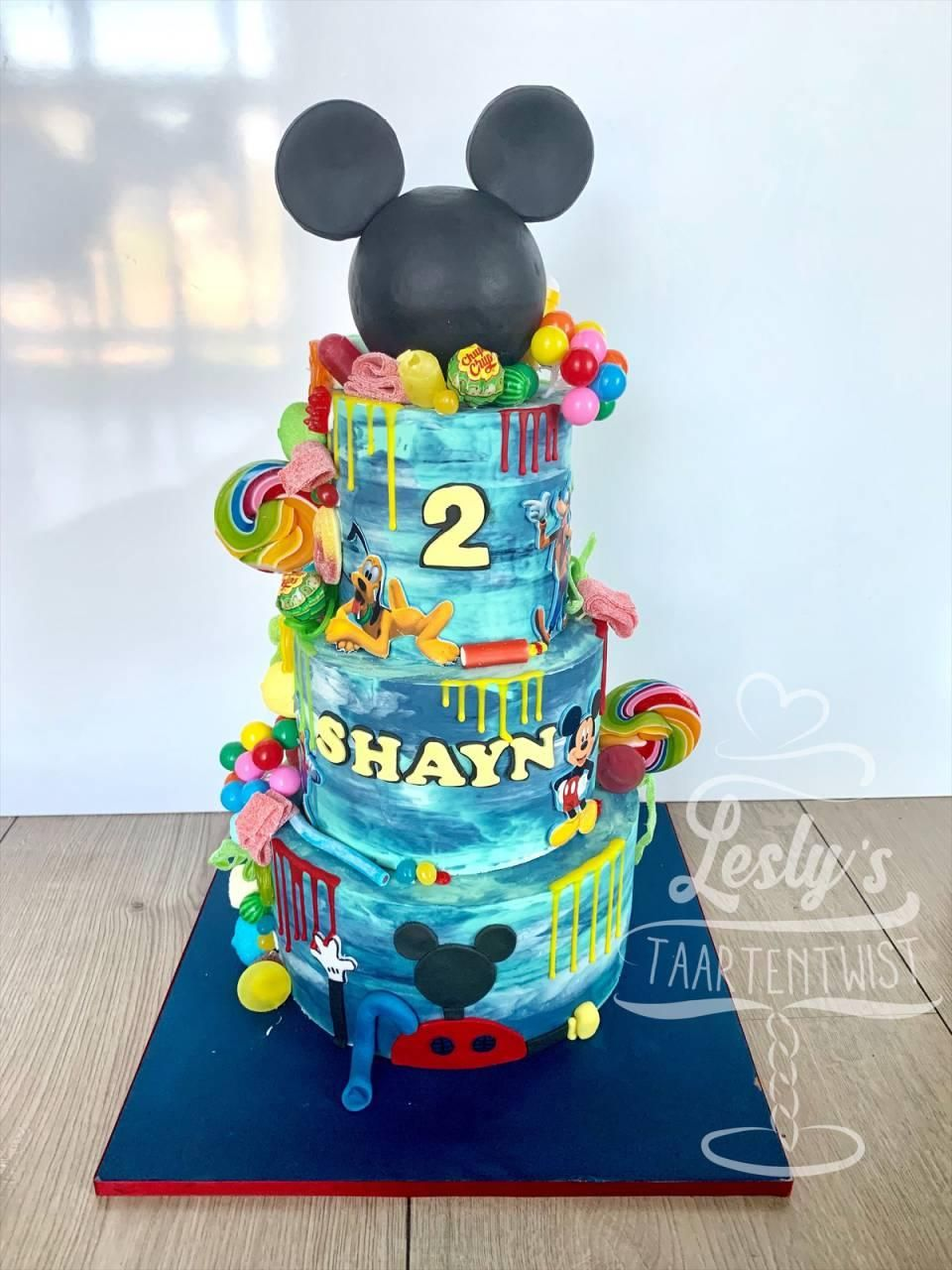 mickey mouse clubhouse dripcake