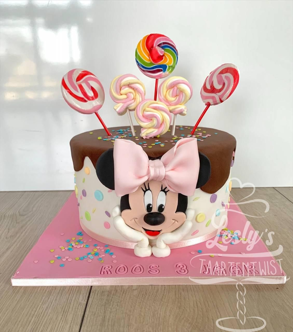minnie mouse cake candy
