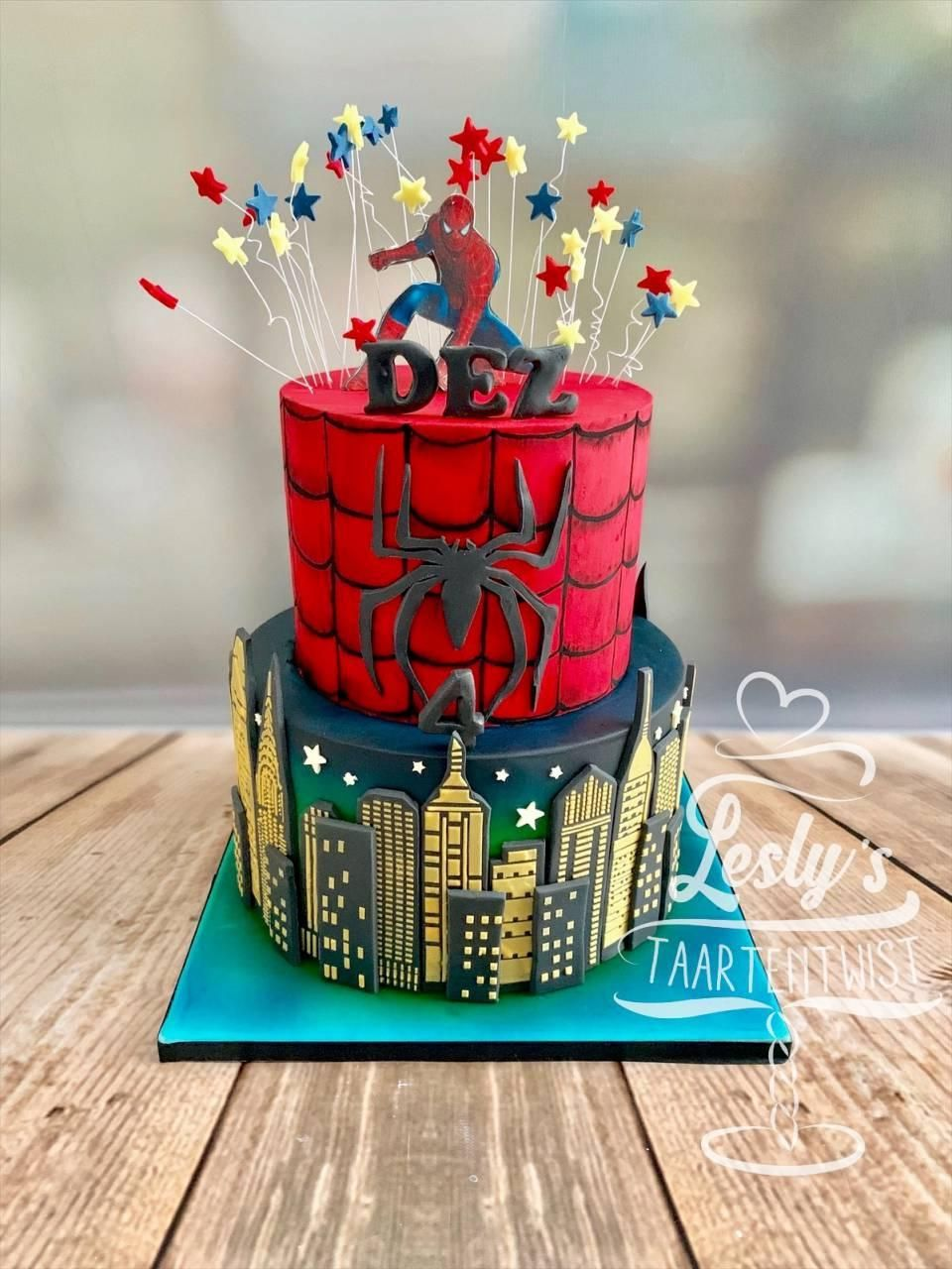 spidermantaart spiderman cake