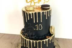 black-and-gold-drip-cake
