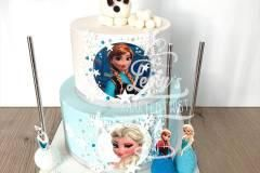 frozen-and-olaf-cake
