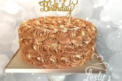 rose golden botercreme taart