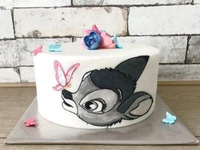 bambi drawn cake